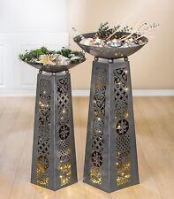 "Gilde Metall Schalenständer "" Ornamente "" - Garten - Skulptur - 102 cm"