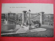 LYON  : Pont de l'Hôtel-Dieu.