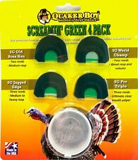 Quaker Boy Screamin' Green 4 Pack Turkey Calls Gobbler Hen Hunting Call