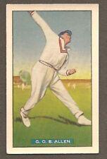 Cricket Trading Cards Allens 1938 Season