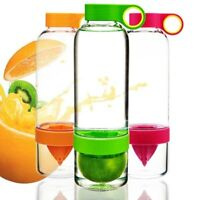 Fruit Infuser Water Bottles Plastic Fashion Drinkware Lemon Juice Drink Bottle