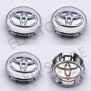 4 pcs, Toyota, Wheel Center Cap, Chrome, 57 MM, Corolla, Yaris, Prius