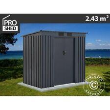 Geräteschuppen Metallgerätehaus mit Flachdach 2,01x1,21x1,76m ProShed®, Anthrazi