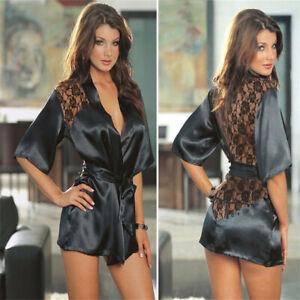 Women Sexy Lace Lingerie Babydoll Thong G-string Underwear Nightwear Sleepwear