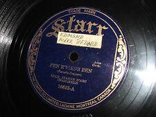 Vtg Starr 78 RPM Canadian Quebec Jeanne D'Arc Charlebois Record #16613 Tested