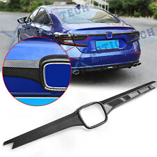 For Honda Accord 2018 19 20 ABS Carbon Fiber Rear Trunk Tailgate Lid Cover Trim