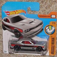 2017 Hot Wheels '15 Dodge Challenger Silver #48 Short Euro Card Toy Moc Hw