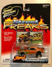 NEW!! Johnny Lightning STREET FREAKS ZINGERS 1968 Pontiac Firebird Orange RARE😎