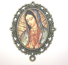 MEGA LARGE Bronze Rosary Center Part | Our Lady of Guadalupe | For Wall Rosary
