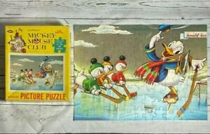 Vintage 1960s DISNEY - MICKEY MOUSE CLUB Jigsaw Puzzle - DONALD'S OLYMPIC TRYOUT