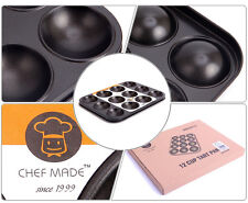 "Tart Baking Pan Non stick 12-ball cup Bakeware cake mold 11.4X8.7X0.7"" Kitchen"