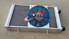 Aluminum Radiator+Shroud+Fan For Lotus Europa Coupe S1 S2 TC 1.5/1.6L 1966-1976