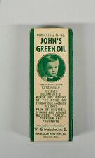 VINTAGE JOHN'S GREEN OIL EMPTY BOX