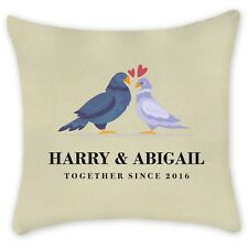 PERSONALISED CUSHION PILLOWCASE Cover Custom Family Couples Home Gift Linen