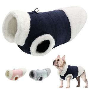 Dog Coat Fleece Lined Pet Cat Puppy Winter Jacket Vest Warm for French Bulldog