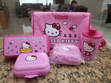 TUPPERWARE ~ HELLO KITTY INSULATED LUNCH BAG / BACKPACK tumbler snack cups ~ NEW