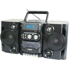 Portable Cd-mp3 Player With Am-fm Radio Detachable Speakers Remote & Usb Inputs