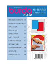 BURDA Tracing Carbon Paper - Ideal for Tracing Patterns - Red & Blue + FREE P&P