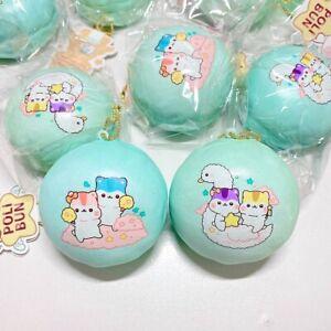 PopularBoxes Poli Squishy Mint Blue Sugar Bun Cloud Swan Squishy NEW