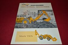 Allis Chalmers Mark Ten Industrial Backhoe Dealer's Brochure YABE13