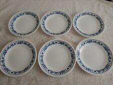 "6 Corelle Corning Old Town Blue Onion 6-3/4"" Bread & Butter Dessert Plates ""NEW"""