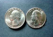 1976- P+D  BICENTENNIAL UNCIRCULATED WASHINGTON QUARTERS FROM SEALED MINT SETS