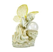 Angel Girl With Ball Solar Light with 1 Yellow LED Pathway Lawn Patio Sun Power