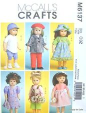 "Reduced!!  M 6137 18"" Doll Clothes4Play, Baseball & a Sunday Best Dress Pattern"
