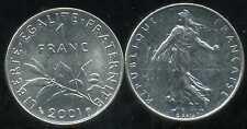 FRANCE  FRANCIA  1  franc  SEMEUSE  2001