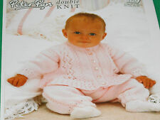 Babies  cardigan and trousers size 16 to 22 ins knitting pattern