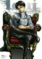 Attack on Titan Figure Levi Ackerman Sofa Sitting Shingeki no Kyojin 12cm PVC