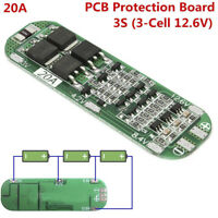 3S 20A 18650 Li-ion Lithium Battery Charger PCB BMS Protection Board Cell 12.6V