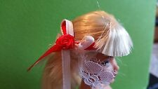Genuine Barbie Doll 1/6 Scale White And Red Headpiece