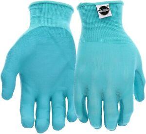 Miracle Gro Womens Stretch Knit Gardening Gloves Aqua Size Medium/Large - NWT