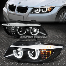 [LED U-HALO] FOR 2006-2008 BMW 3-SERIES E90 BLACK HOUSING PROJECTOR HEADLIGHTS