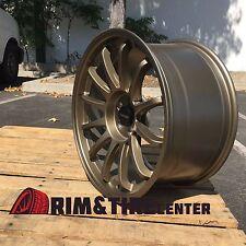 Tenzo R TypeS Rims 18x9.5 +35 5x100 Bronze CONCAVE FRS BRZ Impreza WRX AV20