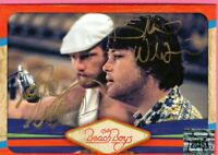 BEACH BOYS BRIAN WILSON AND MIKE LOVE AND AL JARDINE HAND SIGNED CARDS