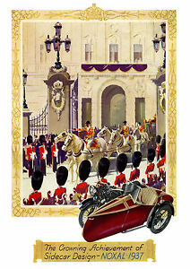 1936 Noxal sidecars poster
