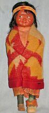 Vintage Ceramic Indian Doll (Skookum Native American Alaska Arizona New Mexico)