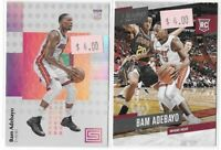 2017-18 Bam Adebayo Status & Prestige Rookie Lot Of 2 No. 132 & 164