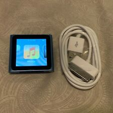 Apple iPod Nano 6th Generation Blue (8 GB) Bundle Good Condition