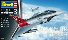 REVELL 1/72 MODEL KIT 03952 Eurofighter TYPHOON monoposto seat LOTTO 3 nuovo strumento