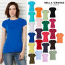 Bella + Canvas Womens Baby Rib Short Sleeve T-Shirt 1001 - Ladies Crew Neck Tee