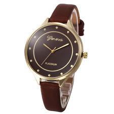 Fashion Women's Watches Stainless Steel Leather Quartz Analog Wrist Watch