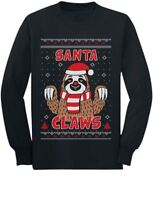 Santa Claws Sloth Ugly Christmas Sweater Cute Toddler/Kids Long sleeve T-Shirt