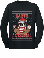 Santa Claws Sloth Ugly Christmas Sweater Cute Toddler/Kids Long sleeve T-Shirt