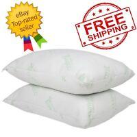 2-pack Bamboo-Polyfill Pillows, Jumbo - FREE SHIPPING