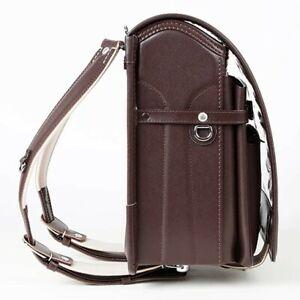 RANDOSERU New Leather Cowhide Japanese School Backpack Tsuchiya Kaban Brown