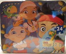 JAKE AND THE NEVER LAND PIRATES - COLLECTIBLE TIN LUNCH BOX & 24 PIECE PUZZLE
