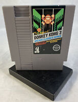 Donkey Kong 3 (Nintendo Entertainment System, 1986) NES Authentic 5 Screw Tested